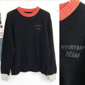 NEW UNIF Everyday Bliss Color Block Knit Sweater M